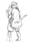 Hyper Light Drifter Protagonist (Sketch) by EclipseLycan