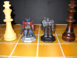 Transformers custom chess set decoy kings by Prowlcop
