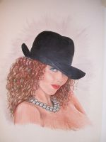 Girl, hat and beads by jason-legon