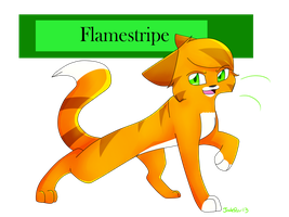 Flamestripe  ( Request ) by X-Jadepaw-X
