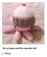 An octopus and his Cupcake hat by Stitch-Happy