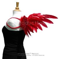 Hearts red MERCURY Angel Wings by eProductSales