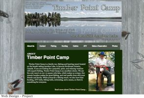 Web Design for Timber Point Camp by colormecrazi
