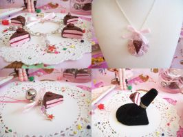 Chocolate Cherry Cake Jewelry by lessthan3chrissy
