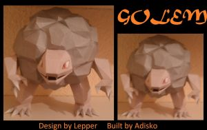 Paper Pokemon Golem by Adisko