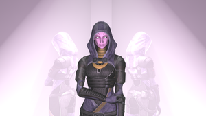 Tali unmasked pose 2 (no effects) by SlipperyHammer