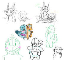 PokeShip n sketches by SketchiJay