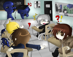 :Ao Oni: School with the Oni by Darkness-the-fox555