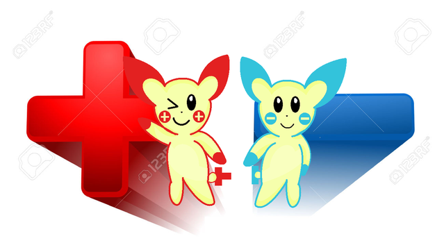 .:Plusle And Minun:. by xXNefina-ChanXx
