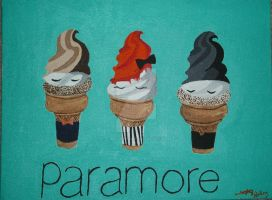 Paramore Ice Cream Cones by A-beating-Heart