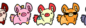 Bunnypig Adopts (^.^)/ by meloniigayle