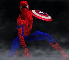 Spiderman civil war movie 2nd skin text 4 M4 by hiram67