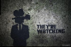 They're Watching (Concrete slab) by NeverenderDesign