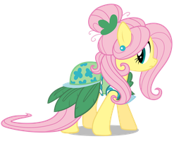 Fluttershy without background by Mihaaaa