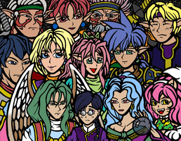 Star Ocean 1 - Flat Colors by slyvenom