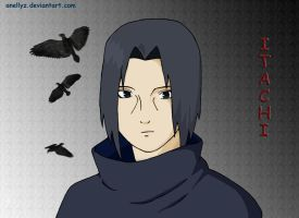 Itachi-close up by Anellyz