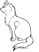 Cat lineart by Tuffy2001
