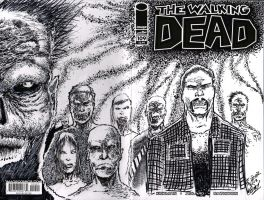 WALKING DEAD SKETCH COVER (By Czr) by CZR31