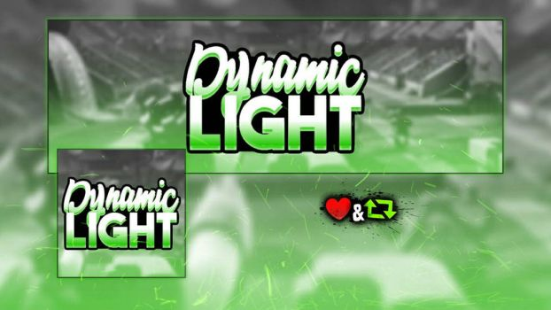 Dynamic Light logo / banner  by chiefvicdesign