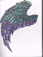 Peacock Barred Wing by TheHellPuppi