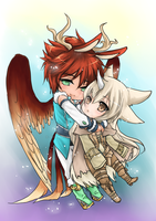 2nd Chibis for KittyTheAngel by shrimpHEBY