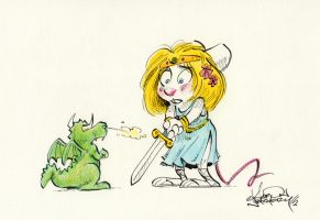 Princess Holly and the (even smaller) Dragon by AaronNeathery