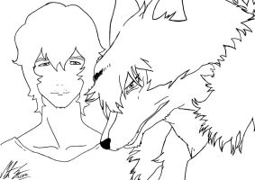 Wolf Children - Ookami (the Wolfman) by MortenEng21
