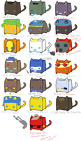 CubeCats: Custom Sheet 5 by Sanza-tan