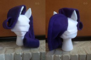 Rarity Fleece Hat Redesign by GolemGeekery