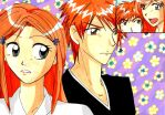 Ichigo and Orihime 4 sechskies by mippa