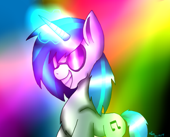 Dj Pon 3 + Speedpaint by CreepypastaGirl1001