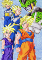 Dragon Ball Z - Perfect Cell Saga by elfaba1993