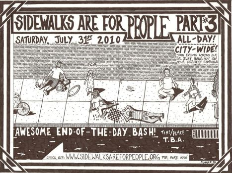 Sidewalks Are For People by strainedeyegraphics
