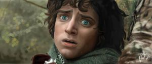Elijah Wood as Frodo by leenadwish