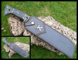 Sheath for competition knife by skull-collector