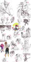 SKETCHDUMP #11- WE HAVE LOTS OF BORING STUFF by P-cate