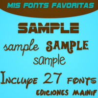 Pack de mis fonts favoritas by mainif