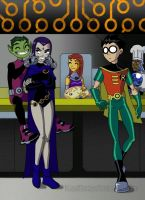 Teen Titans - 00 by Drakyx