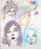 different faces by cgkevin