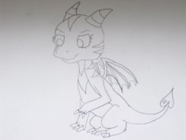 cutest baby dragon ever by Princess-Shannen