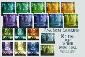 Exclusive_Magic Forest BG by GoblinStock