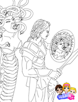 Perseus and Medusa by Writer-Colorer