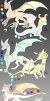 Dragon adoptables 2 by Yorialu