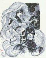 Medusa Black Bolt con sketch by MichaelDooney