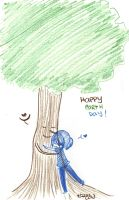 Day 113: Hug-A-Tree Day by Falling-Wish