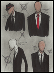 Many styles of slenderman by Cageyshick05