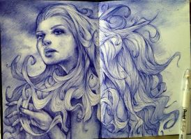 Ballpoint is my friend by JujuFei
