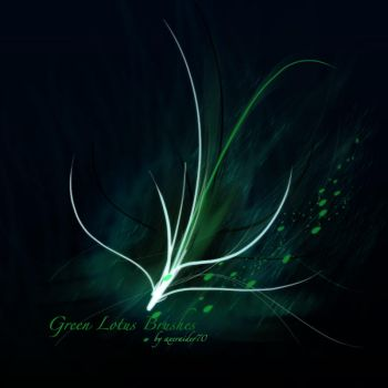 Green Lotus Brushes by Axeraider70