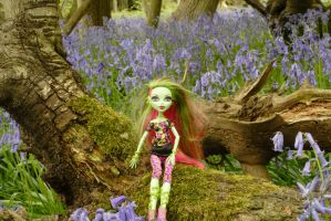 Venus surrounded by bluebells by astrogoth13