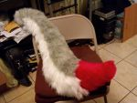 First Fursuit Tail by Dragon-hobbit101